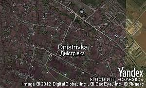 Map of  village Dnistrivka