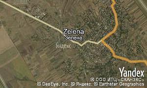 Map of  village Zelena