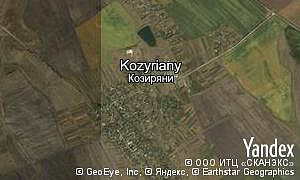 Map of  village Kozyriany