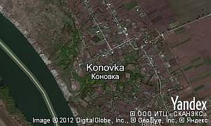 Satellite map of  village Konovka