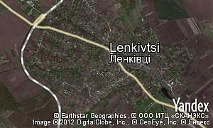 Satellite map of  village Lenkivtsi