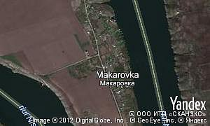 Satellite map of  village Makarovka