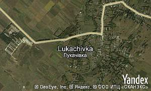 Map of  village Lukachivka