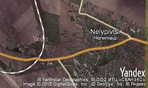 Map of  village Nelypivtsi