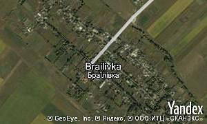 Map of  village Brailivka