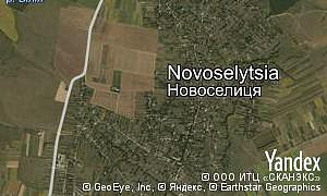 Map of  village Novoselytsia