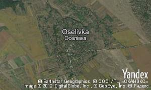 Map of  village Oselivka