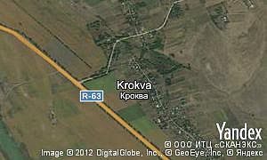 Yandex map of  village Krokva