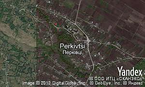 Satellite map of  village Perkivtsi
