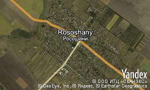 Map of  village Rososhany