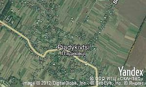 Map of  village Piadykivtsi