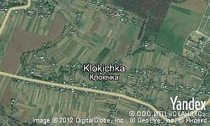 Map of  village Klokichka