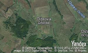 Map of  village Dibrova
