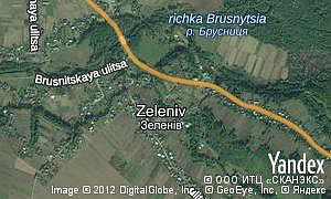 Map of  village Zeleniv