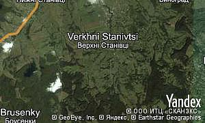 Map of  village Verkhni Stanivtsi