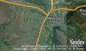 Yandex map of  village Hlynytsia