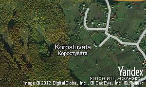 Yandex map of  village Korostuvata