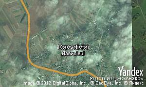 Map of  village Davydivtsi