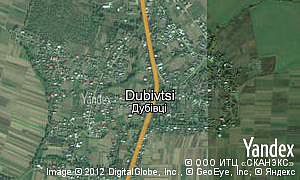 Map of  village Dubivtsi