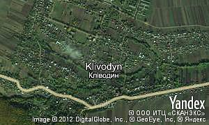 Map of  village Klivodyn