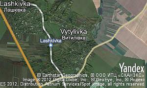 Map of  village Vytylivka