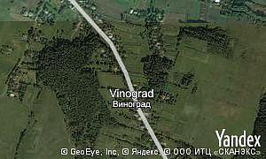 Map of  village Vinograd
