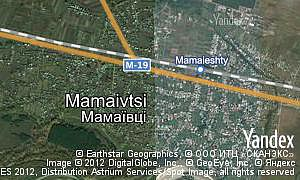 Map of  village Mamaivtsi