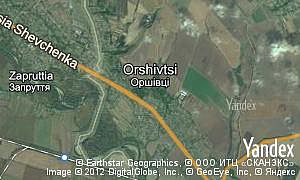 Map of  village Orshivtsi