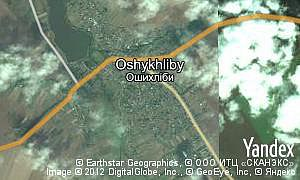 Map of  village Oshykhliby