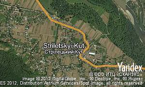 Yandex map of  village Striletskyi Kut