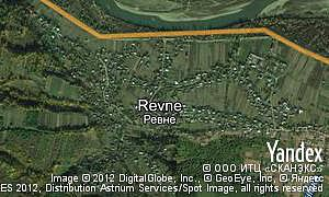 Yandex map of  village Revne