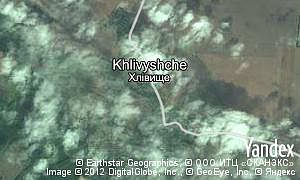Map of  village Khlivyshche