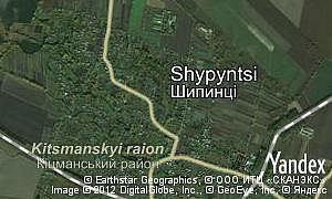 Map of  village Shypyntsi