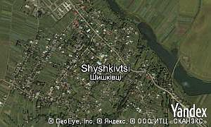 Map of  village Shyshkivtsi