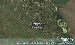 Map of  village Yuzhynets