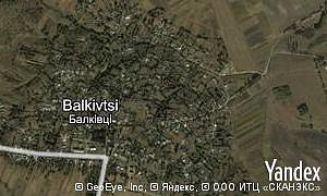 Map of  village Balkivtsi