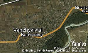 Map of  village Vanchykivtsi