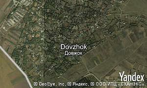 Yandex map of  village Dovzhok