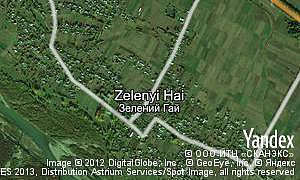 Map of  village Zelenyi Hai