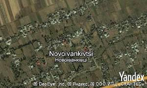 Map of  village Novoivankivtsi