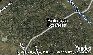 Map of  village Koteleve