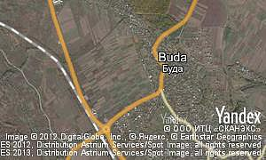 Map of  village Buda