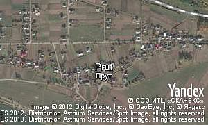Satellite map of  village Prut
