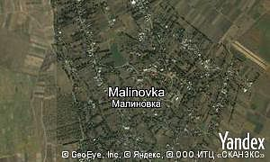 Map of  village Malinovka