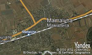 Satellite map of  village Mamalyha