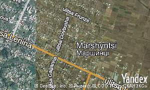 Map of  village Marshyntsi
