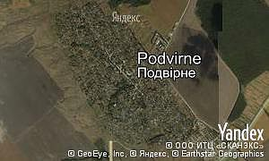 Satellite map of  village Podvirne