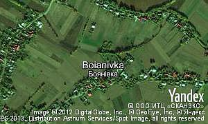 Map of  village Boianivka