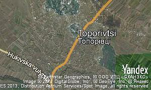 Map of  village Toporivtsi
