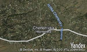 Map of  village Cherlenivka